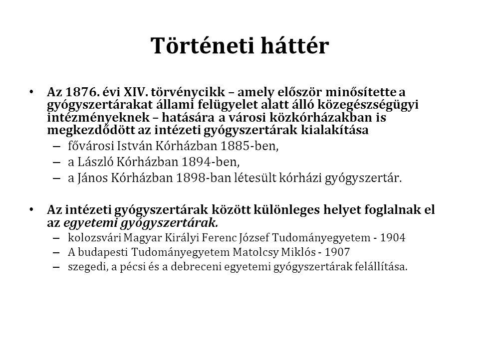 Történeti háttér Az 1876.évi XIV.