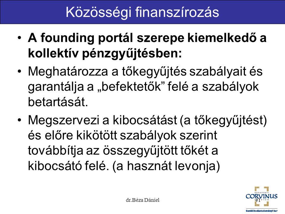 """Közösségi finanszírozás A founding portál szerepe kiemelkedő a kollektív pénzgyűjtésben: Meghatározza a tőkegyűjtés szabályait és garantálja a """"befekt"""
