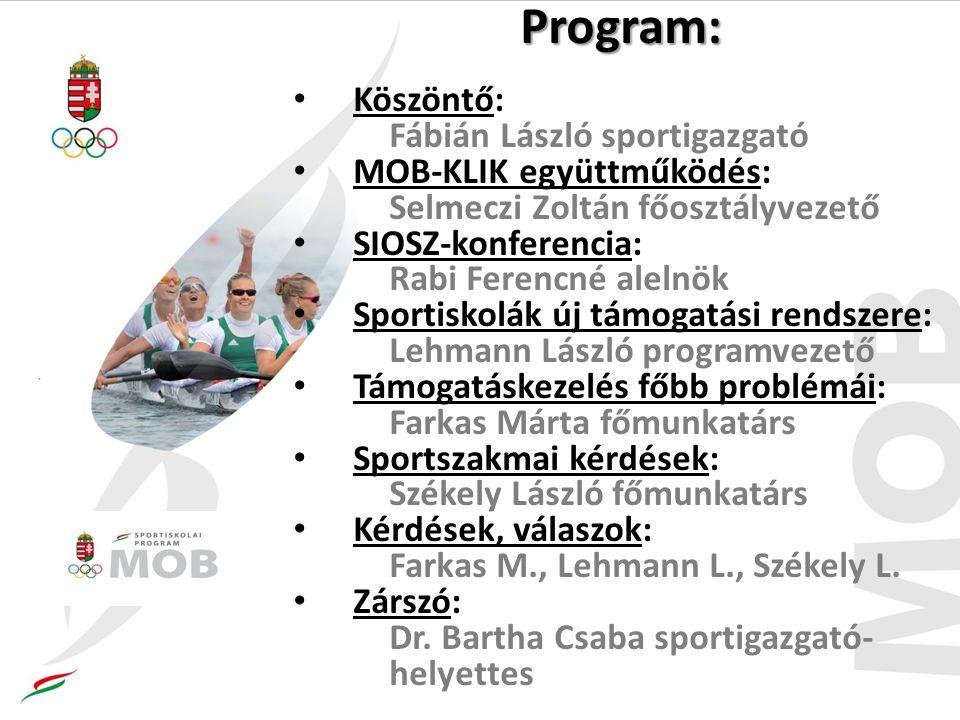 Támogatási feltételek (2) A sportiskola működésének és munkahelyszervezésének összehangolása, igazítása a választott sportágak sportszakmai igényeihez, figyelembe véve a sportolók tankötelezettségből fakadó feladatait és sportkarrier-építését.