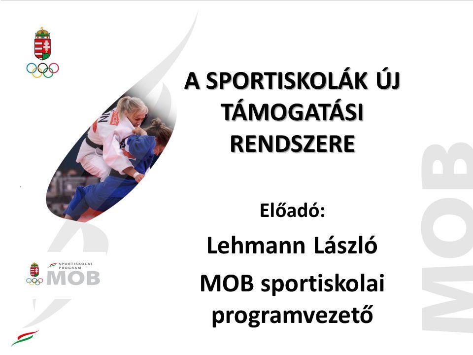 A SPORTISKOLÁK ÚJ TÁMOGATÁSI RENDSZERE Előadó: Lehmann László MOB sportiskolai programvezető