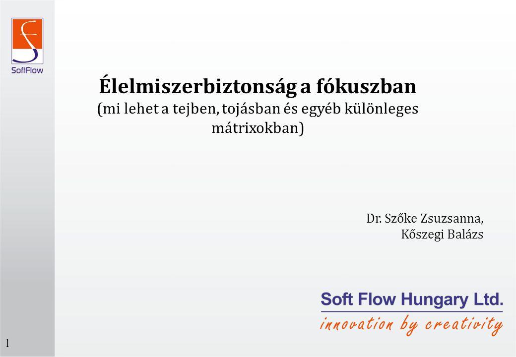 Élelmiszerbiztonság a fókuszban (mi lehet a tejben, tojásban és egyéb különleges mátrixokban) Dr. Szőke Zsuzsanna, Kőszegi Balázs 1