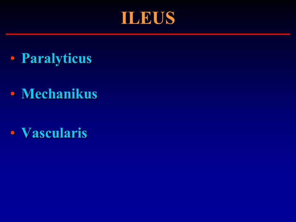 ILEUS Paralyticus Mechanikus Vascularis Paralyticus Mechanikus Vascularis