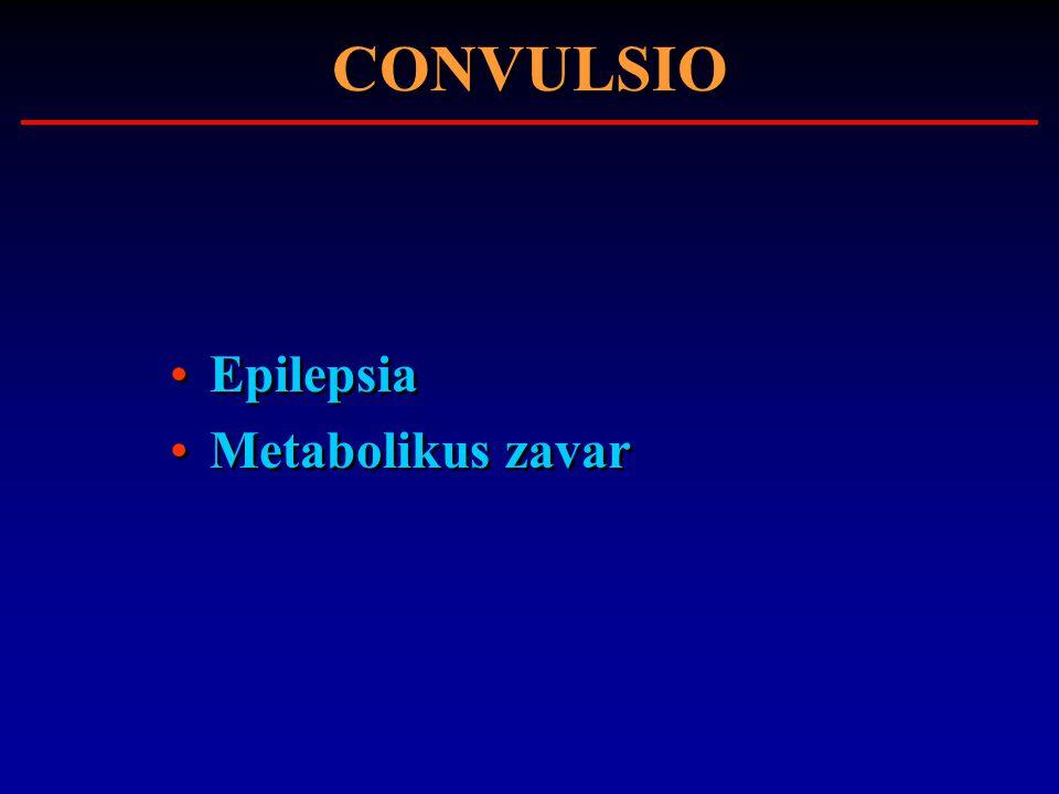 CONVULSIO Epilepsia Metabolikus zavar Epilepsia Metabolikus zavar