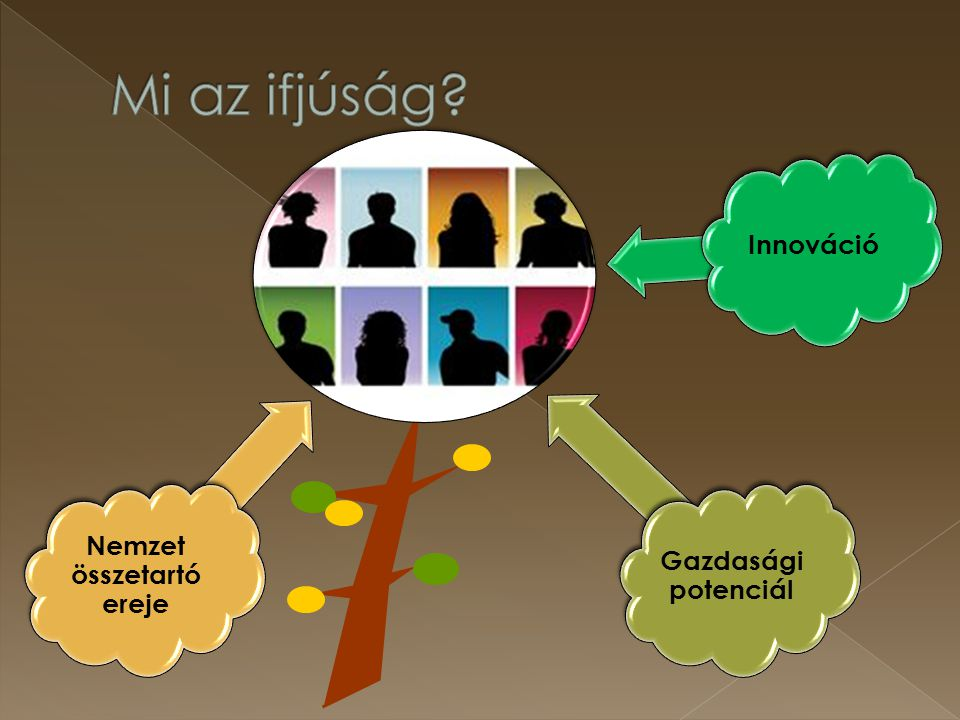 """Támogatások köre: Álláslehetőség Gyakornoki program (ösztöndíjas foglalkoztatás) Munkatapasztalat-szerzés támogatása Bértámogatás Mobilitási támogatás Vállalkozóvá válás támogatása Szakképzési lehetőség Tranzitfoglalkoztatás Nonprofit szervezetek fiatalokat célzó munkaerő-piaci programjai """"Második esély iskola , HÍD program Kompetencia-fejlesztés bizonyos formái Felzárkóztató képzés +Munkaerő-piaci szolgáltatások"""