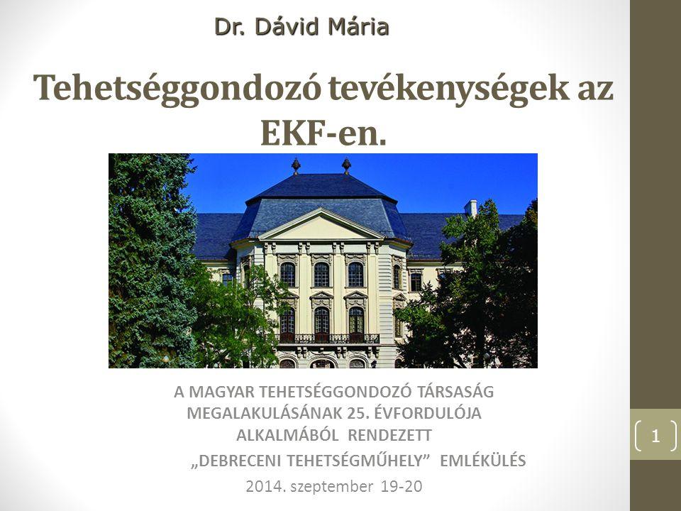 Az egri Főiskola épületei Az Eszterházy Károly Főiskola az Észak- magyarországi régió önálló, többkarú főiskolája Egerben 1774-től a Líceumnak elnevezett épületkomplexumban kezdődött el a képzés.