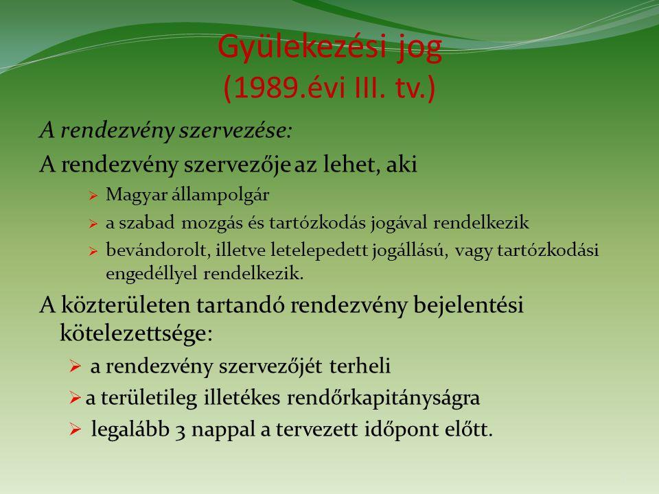 Gyülekezési jog (1989.évi III.