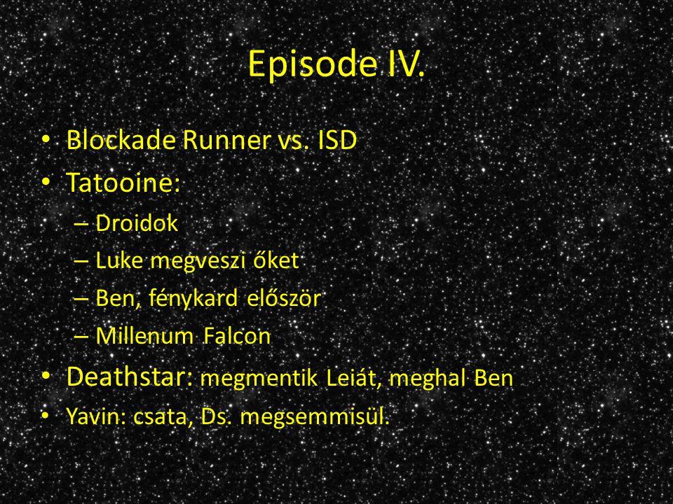 Episode V.Hoth: Luke elveszik, megtalálják, csata Dagobah Falcon vs.