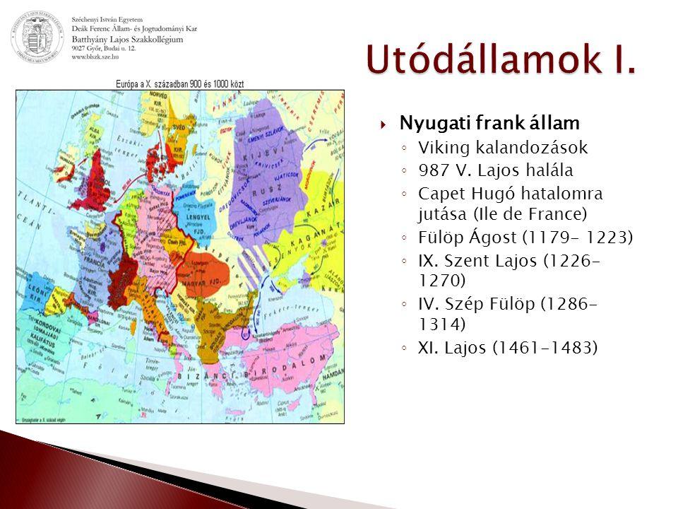  Nyugati frank állam ◦ Viking kalandozások ◦ 987 V.