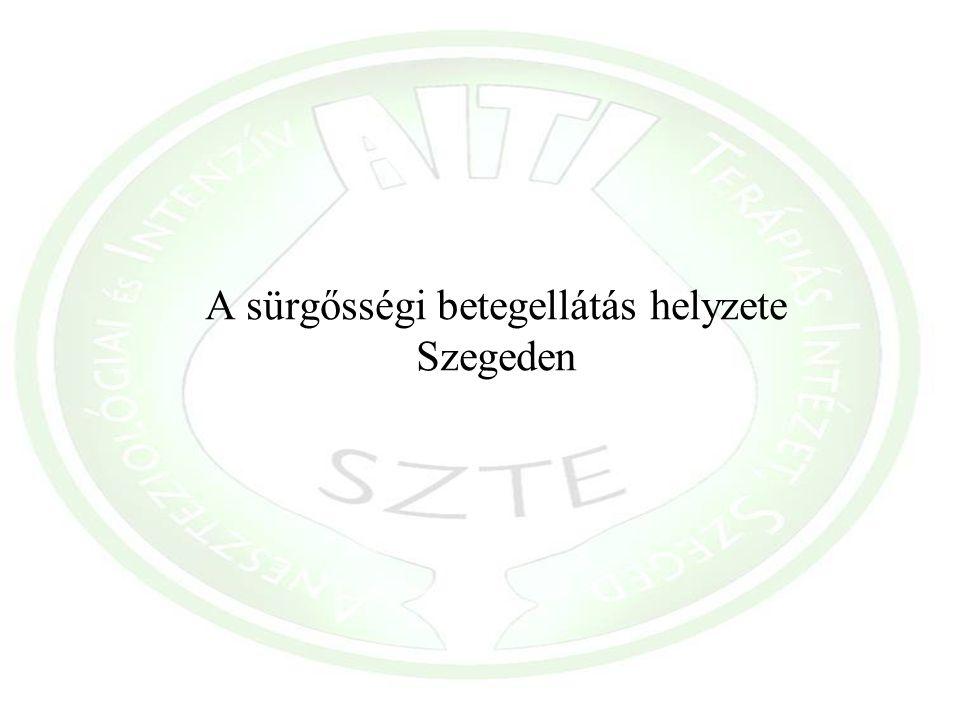 A sürgősségi betegellátás helyzete Szegeden