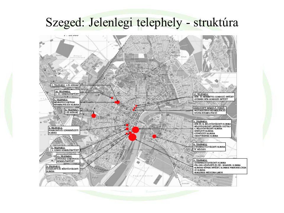 Szeged: Jelenlegi telephely - struktúra