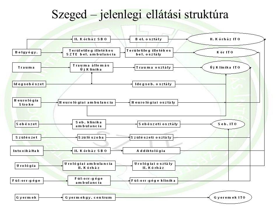 Szeged – jelenlegi ellátási struktúra