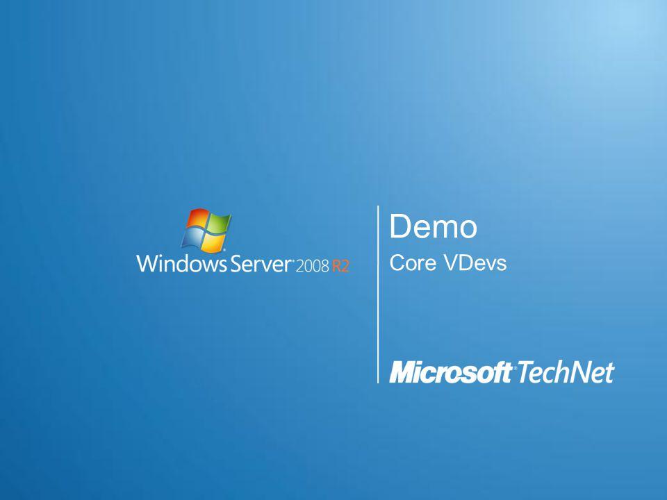 Demo Core VDevs