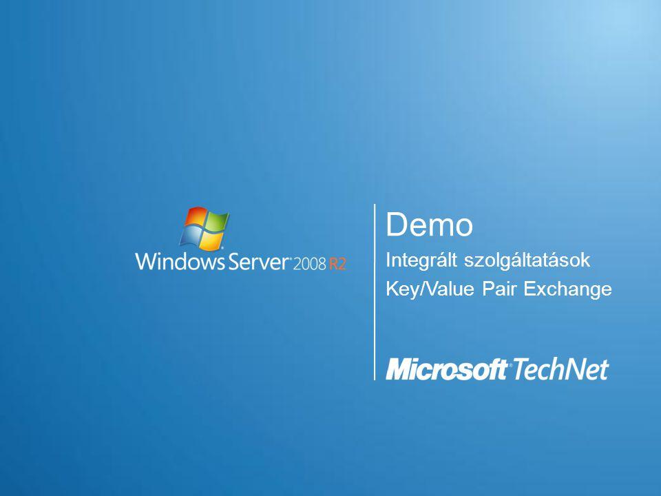 Integrált szolgáltatások Key/Value Pair Exchange Demo