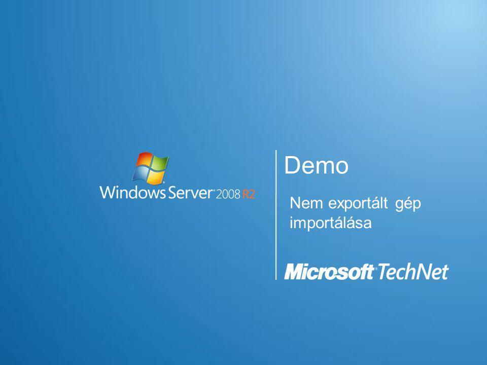 Demo Nem exportált gép importálása