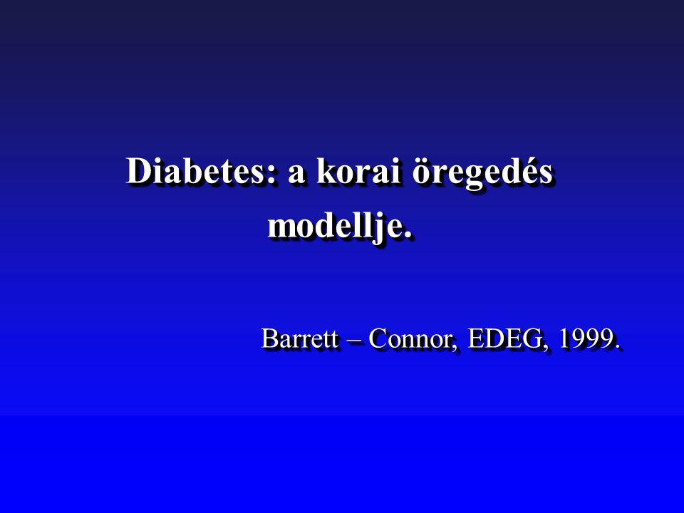 Diabetes: a korai öregedés modellje. Barrett – Connor, EDEG, 1999. Diabetes: a korai öregedés modellje. Barrett – Connor, EDEG, 1999.