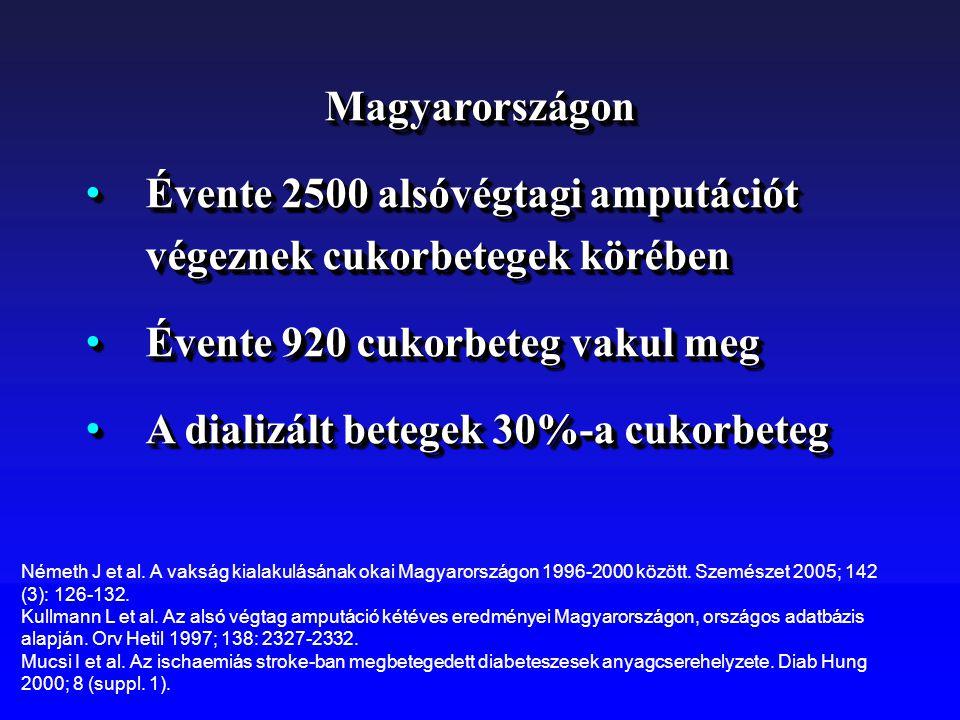 Magyarországon Évente 2500 alsóvégtagi amputációt végeznek cukorbetegek körében Évente 2500 alsóvégtagi amputációt végeznek cukorbetegek körében Évent