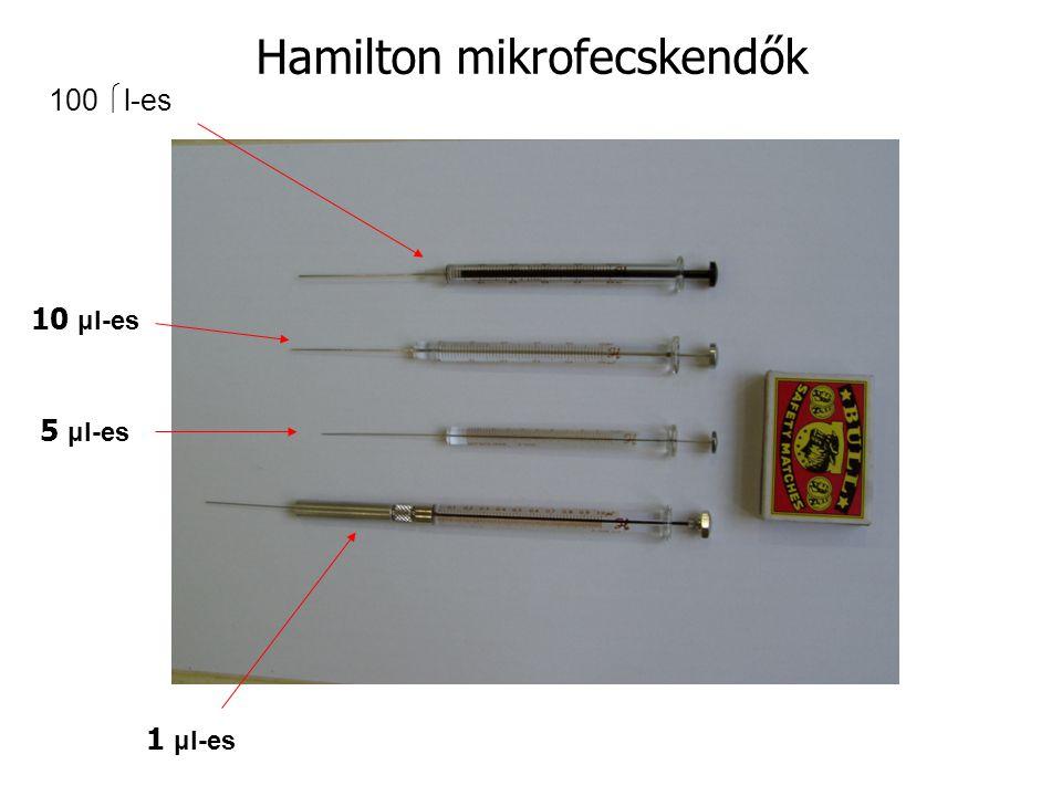 Hamilton mikrofecskendők 1 μl-es 10 μl-es 5 μl-es 100  l-es