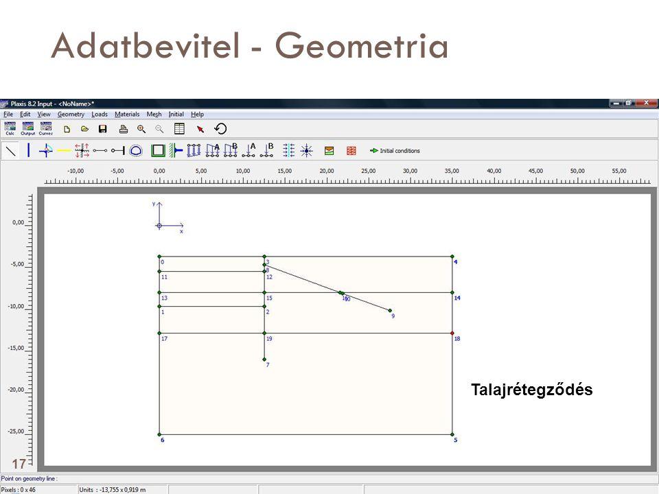 Adatbevitel - Geometria Talajrétegződés 17