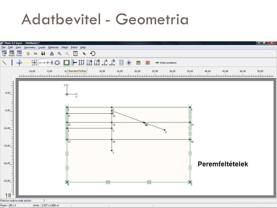 Adatbevitel - Geometria Peremfeltételek 18