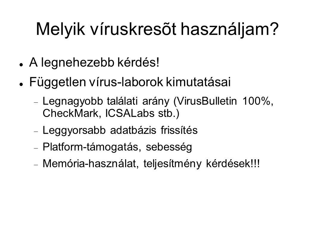 Melyik víruskresõt használjam. A legnehezebb kérdés.
