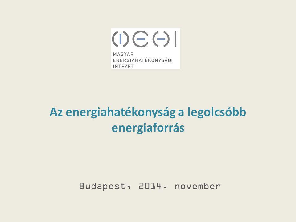 Az energiahatékonyság a legolcsóbb energiaforrás Budapest, 2014. november