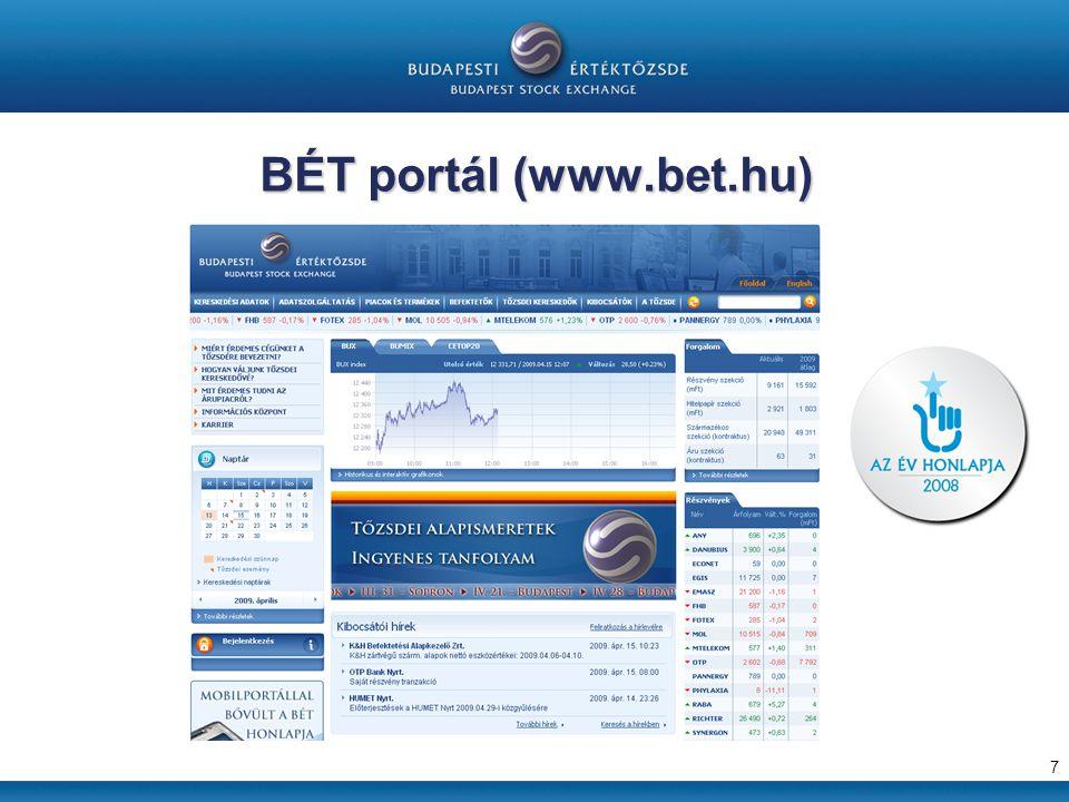 BÉT portál (www.bet.hu) 7