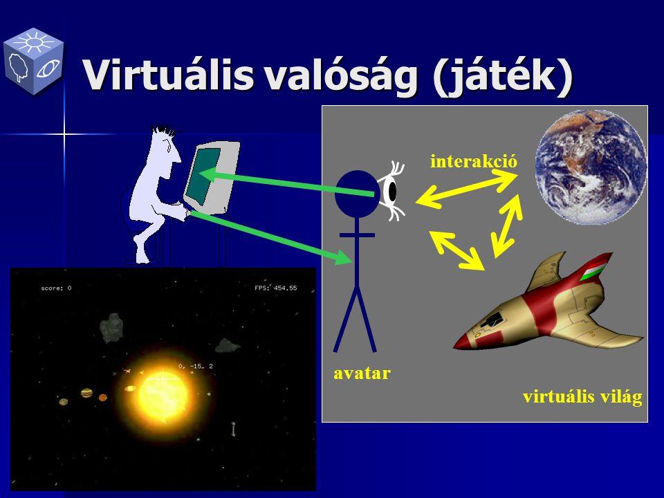 Virtuális valóság (játék) vezérlés virtuális világ avatar interakció