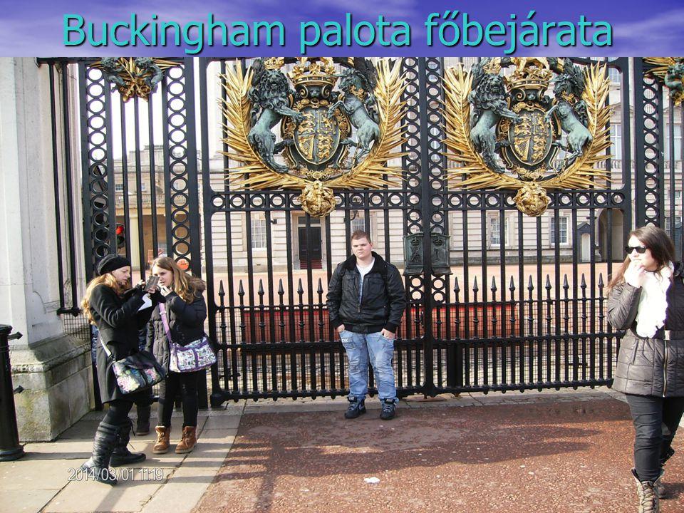 Buckingham palota főbejárata