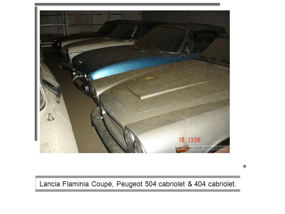 Lancia Flaminia Coupé, Peugeot 504 cabriolet & 404 cabriolet.