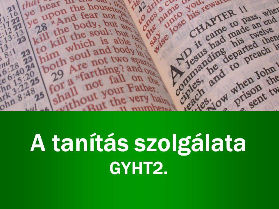A tanítás szolgálata GYHT2.