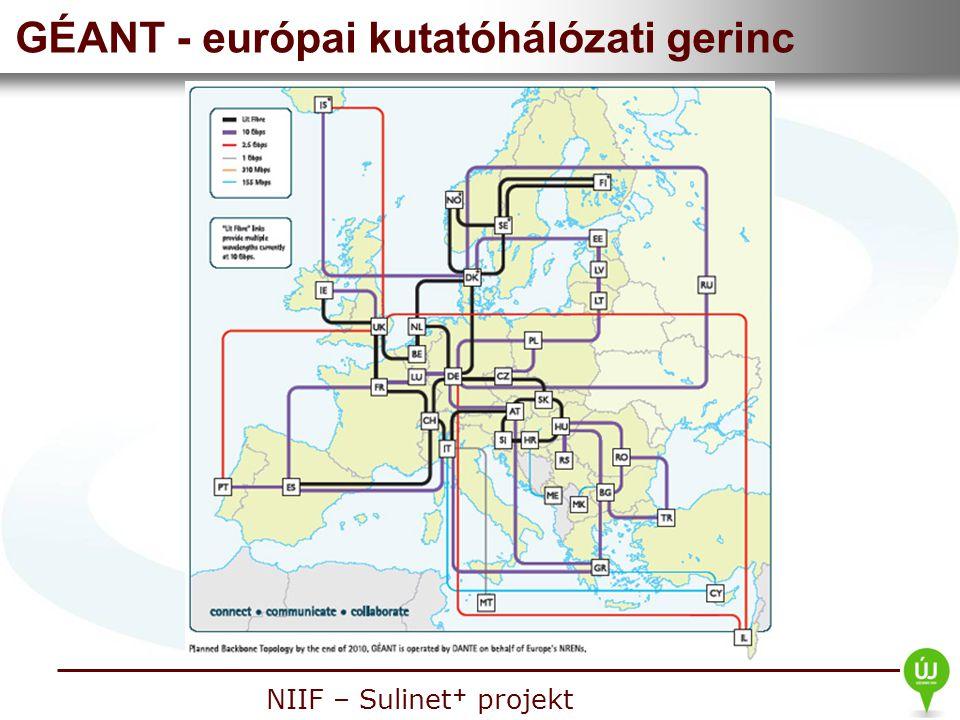 Nemzeti Információs Infrastruktúra Fejlesztési Intézet NIIF – Sulinet + projekt GÉANT - európai kutatóhálózati gerinc