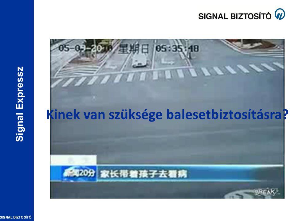 SIGNAL BIZTOSÍTÓ Signal Expressz Kinek van szüksége balesetbiztosításra?