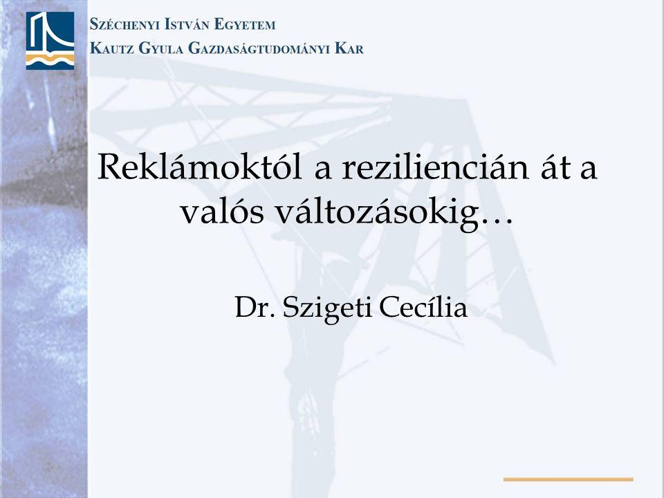 Reklámoktól a reziliencián át a valós változásokig… Dr. Szigeti Cecília