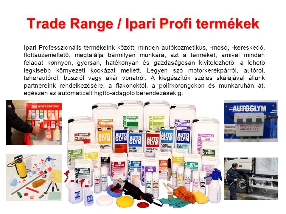 Trade Range / Ipari Profi termékek Ipari Professzionális termékeink között, minden autókozmetikus, -mosó, -kereskedő, flottaüzemeltető, megtalálja bár