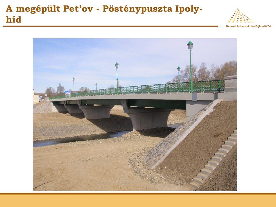 A megépült Pet'ov - Pösténypuszta Ipoly- híd