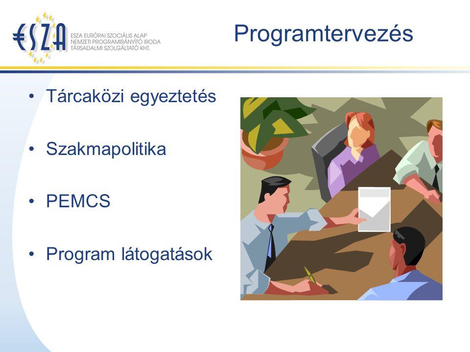 Programtervezés Tárcaközi egyeztetés Szakmapolitika PEMCS Program látogatások