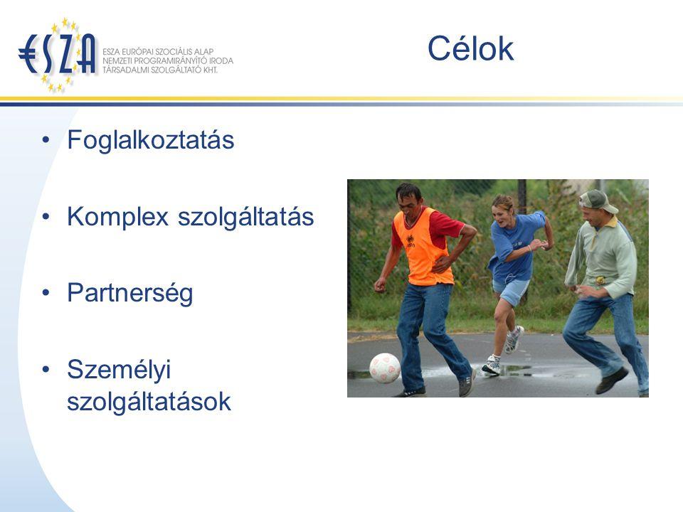 Célok Foglalkoztatás Komplex szolgáltatás Partnerség Személyi szolgáltatások