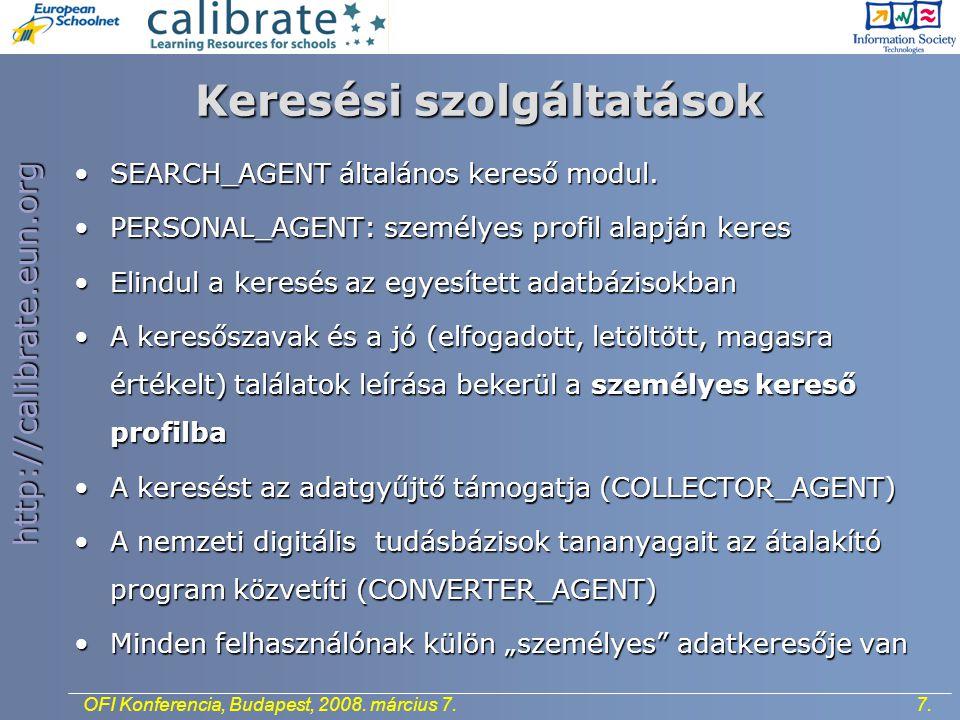 http://calibrate.eun.org 7.OFI Konferencia, Budapest, 2008.