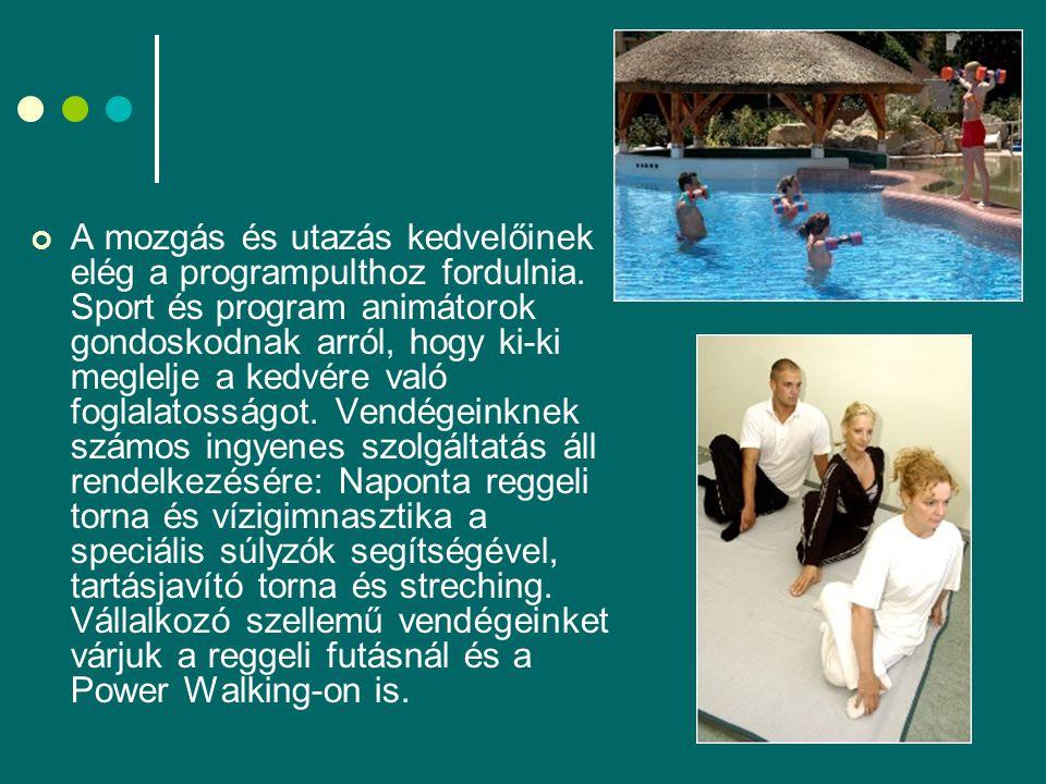 A mozgás és utazás kedvelőinek elég a programpulthoz fordulnia.