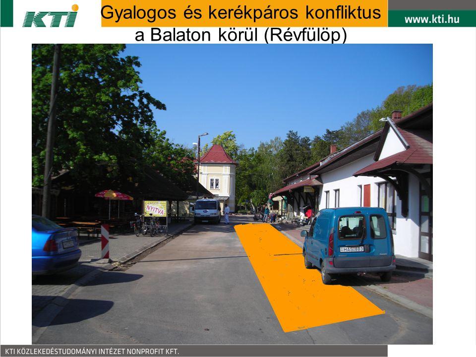 Gyalogos és kerékpáros konfliktus a Balaton körül (Révfülöp)