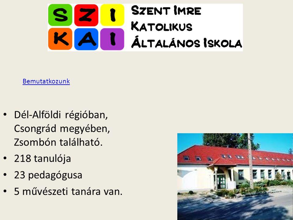 Dél-Alföldi régióban, Csongrád megyében, Zsombón található. 218 tanulója 23 pedagógusa 5 művészeti tanára van. Bemutatkozunk