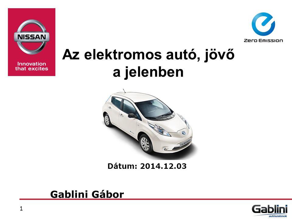 Az elektromos autó, jövő a jelenben Dátum: 2014.12.03 Gablini Gábor 1