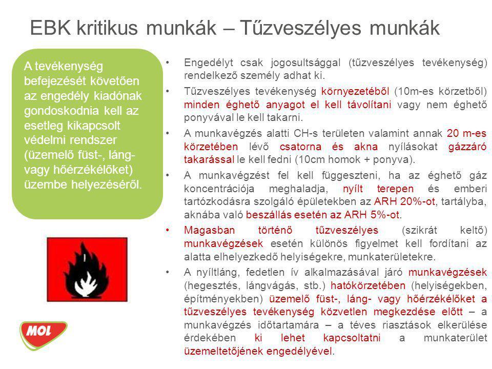 Engedélyt csak jogosultsággal (tűzveszélyes tevékenység) rendelkező személy adhat ki. Tűzveszélyes tevékenység környezetéből (10m-es körzetből) minden