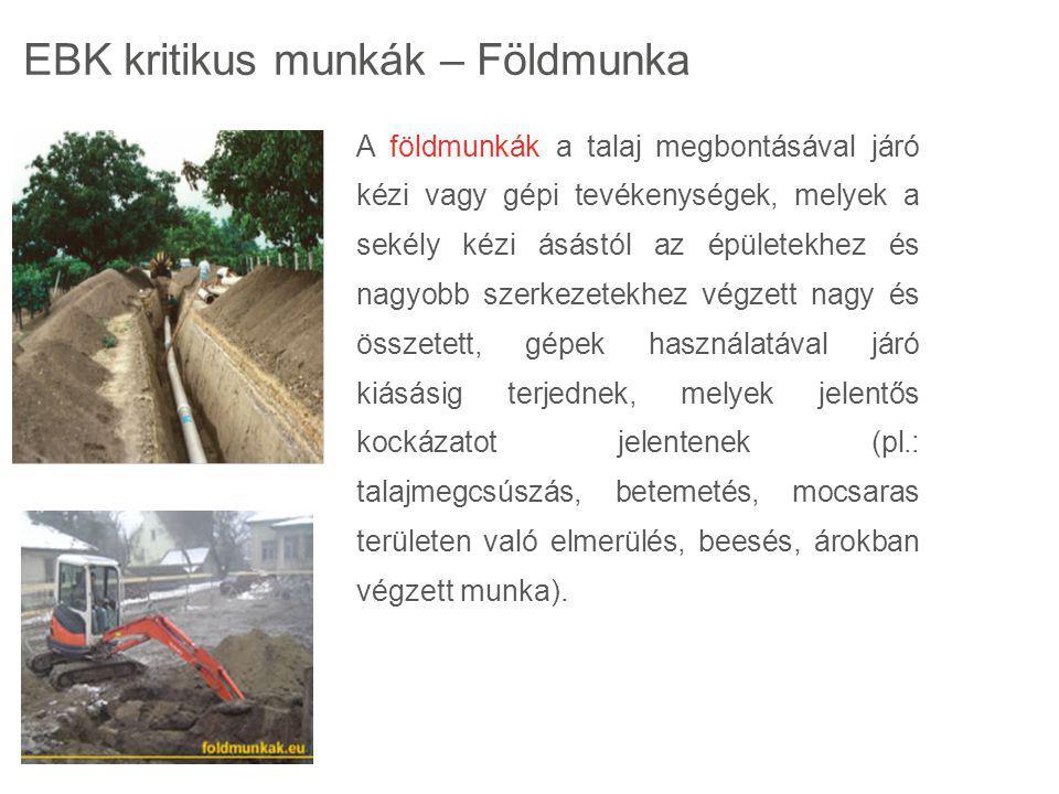 A földmunkák a talaj megbontásával járó kézi vagy gépi tevékenységek, melyek a sekély kézi ásástól az épületekhez és nagyobb szerkezetekhez végzett na