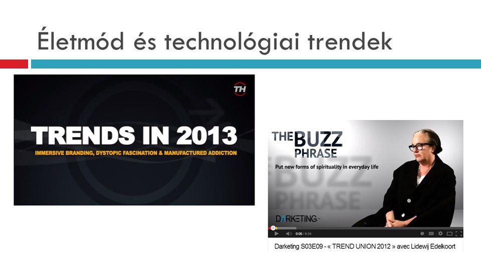 Életmód és technológiai trendek