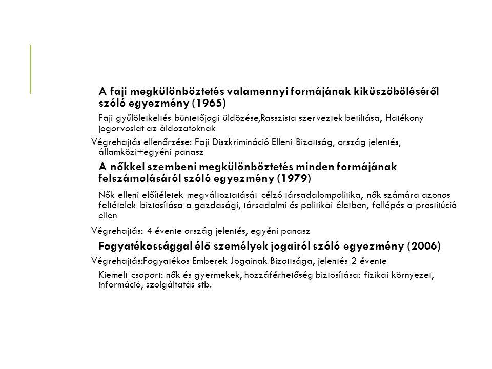 A faji megkülönböztetés valamennyi formájának kiküszöböléséről szóló egyezmény (1965) Faji gyűlöletkeltés büntetőjogi üldözése,Rasszista szerveztek be