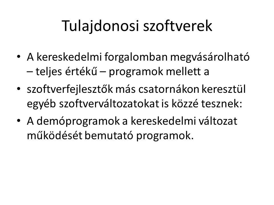 Szabad szoftverek Nem tévesztendő össze az ingyenes szoftverrel.