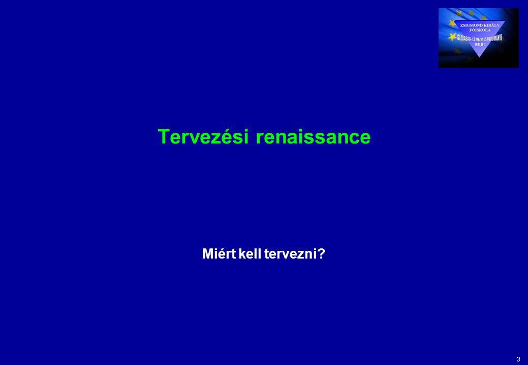 3 Tervezési renaissance Miért kell tervezni?