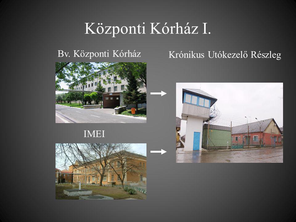 Központi Kórház I. Bv. Központi Kórház Krónikus Utókezelő Részleg IMEI