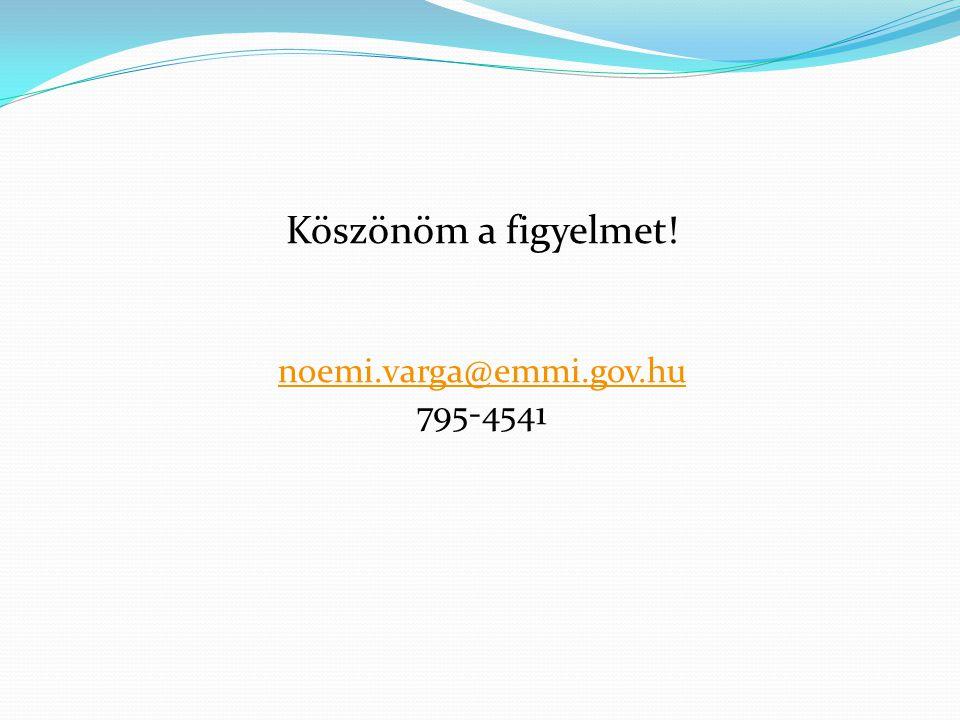 Köszönöm a figyelmet! noemi.varga@emmi.gov.hu 795-4541